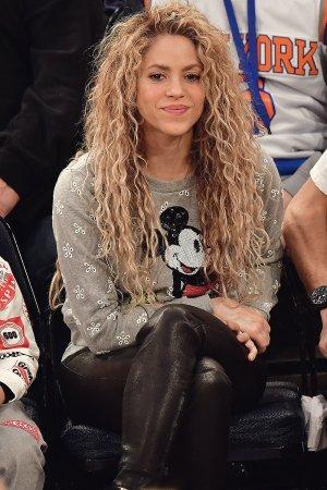 Shakira attends the New York Knicks Vs Philadelphia 76ers game