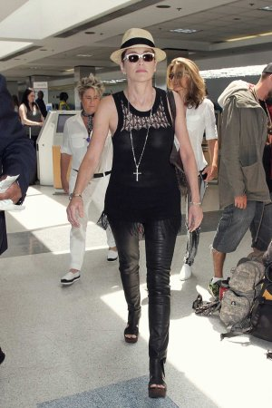 Sharon Stone at LAX