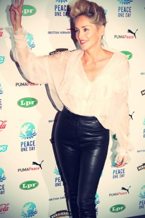 Sharon Stone at Peace One Day concert