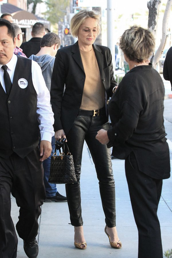Sharon Stone is seen in Los Angeles