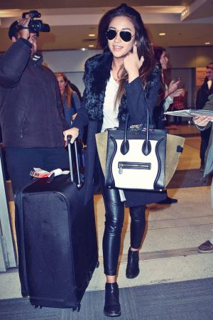 Shay Mitchell at JFK airport