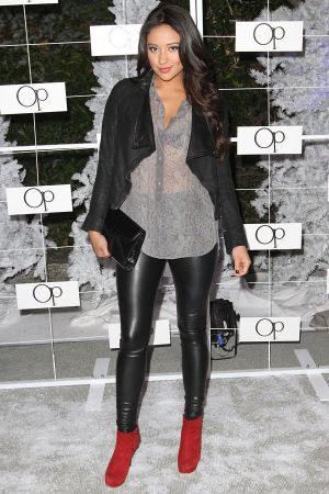 Shay Mitchell at OP celebrates winter wonderland