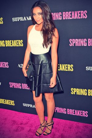 Shay Mitchell attends the Spring Breakers Premiere