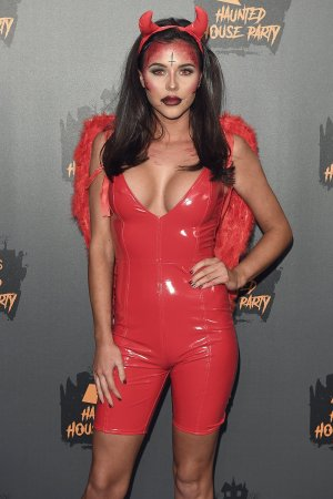 Shelby Tribble attends KISS Haunted House Party