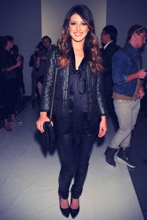 Shenae Grimes at Mercedes-Benz Fashion Week