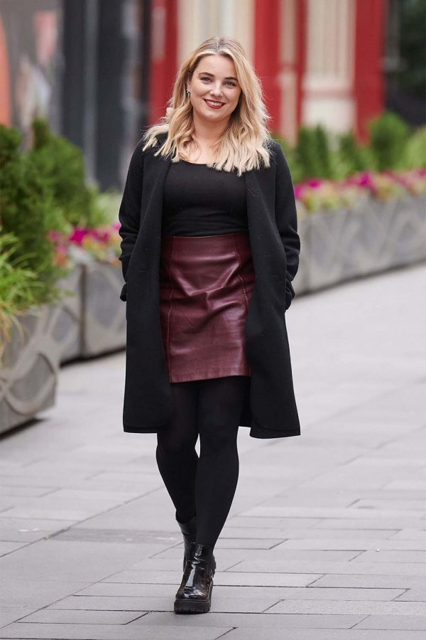 Sian Welby seen at Global Radio Studios in London