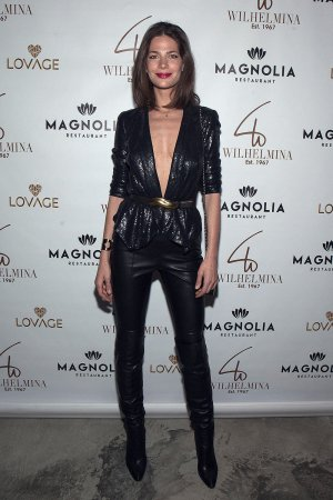 Silvia Ranguelova attends Wilhelmina's Mainboard And Curve Board post fashion week party