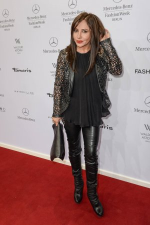 Simone Thomalla attends Merceses Benz Fashion Week
