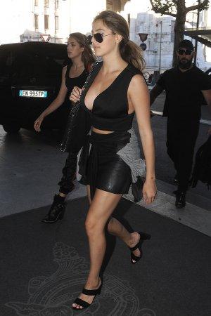 Sistine Stallone at Fashion Week in Milan