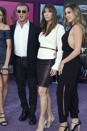 Sistine Stallone & Sophia Stallone attend Guardians of the Galaxy