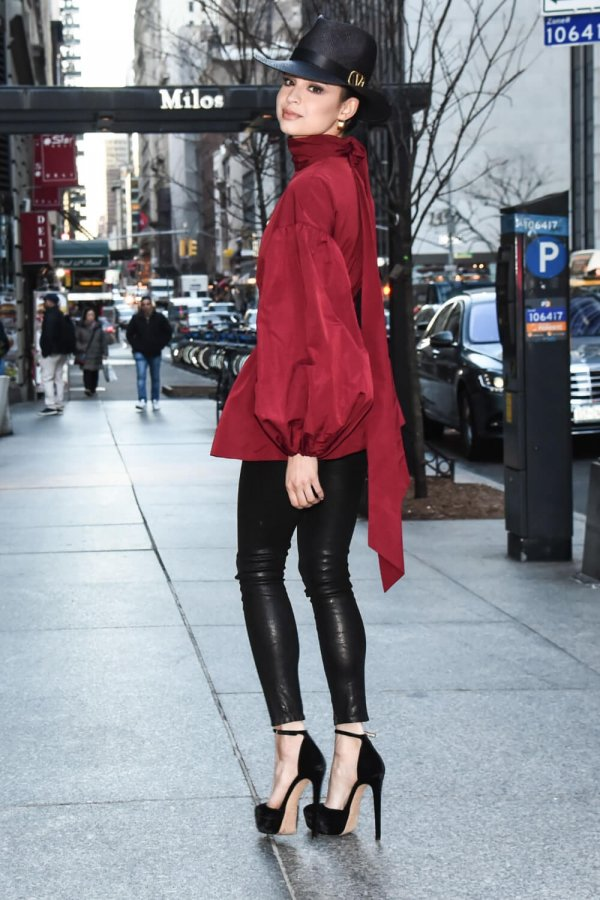 Sofia Carson is seen on the streets of Manhattan