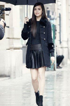 Sofia Carson shooting in Paris