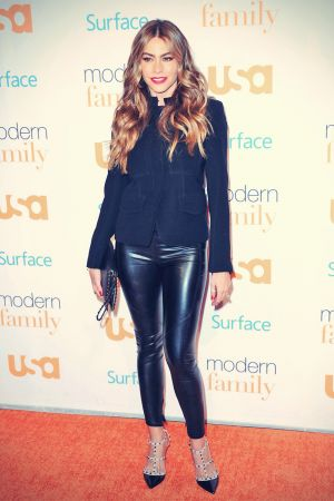 Sofia Vergara arrives at the Modern Family Fan Appreciation Day