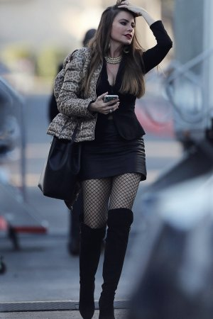 Sofia Vergara on the set of Modern Family
