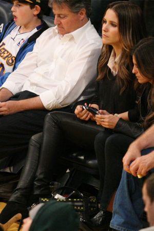 Sophia Bush at the LA Lakers game