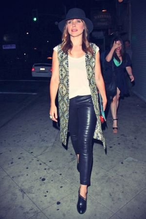 Sophia Bush enjoys a night out at Harvard & Stone