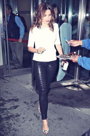 Sophia Bush seen leaving an office building