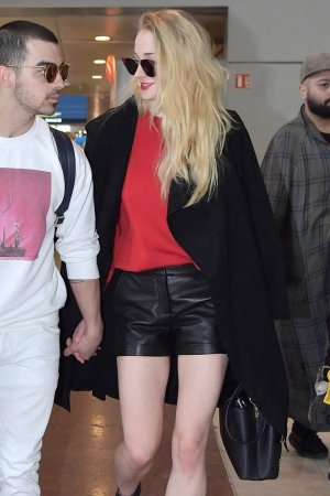 Sophie Turner arrives in Paris