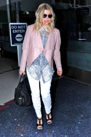 Stacey Ferguson at LAX