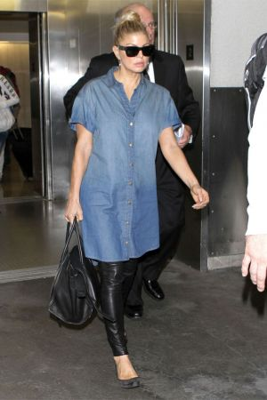 Stacey Ferguson at LAX Airport