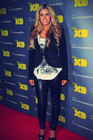 Stacey Solomon attends the Skyrunners UK Film Premiere