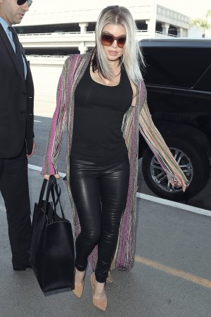 Stacy Ferguson at LAX Airport
