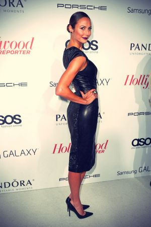 Stacy Keibler Arrives at The Hollywood Reporter's Emmy Party