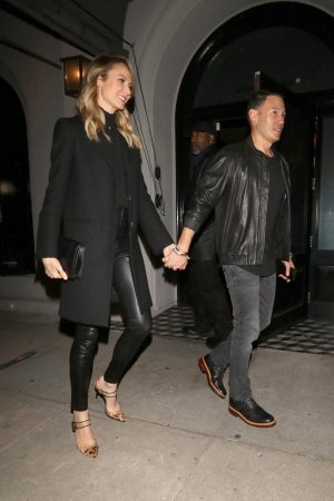 Stacy Keibler at Craigs restaurant