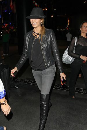 Stacy Keibler at the Jay-Z and Kanye West concert