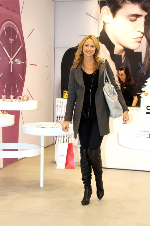 Stacy Keibler shopping at Swatch in Century City Mall in LA