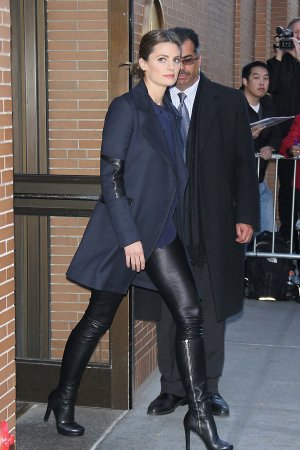 Stana Katic was spotted in New York