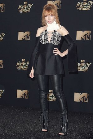 Stef Dawson attends the 2017 MTV Movie & TV Awards