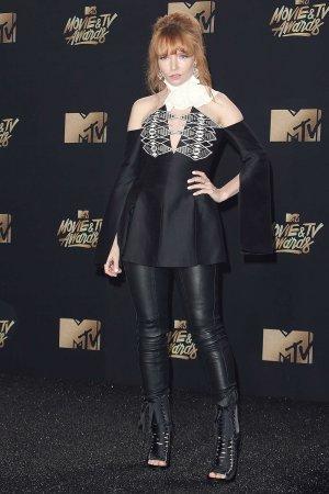 Stef Dawson attends the 2017 MTV Movie & TV Awards
