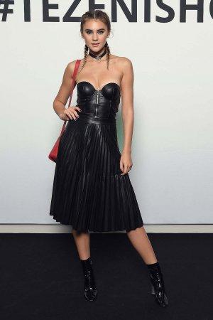 Stefanie Giesinger attends the TEZENIS Fashion Show