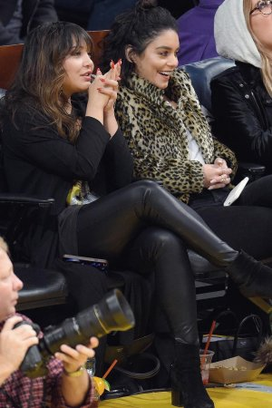 Stella Hudgens attends a basketball game