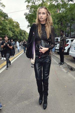 Stella Maxwell seen during Milan Fashion Week