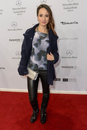 Stephanie Stumph attends Merceses Benz Fashion Week
