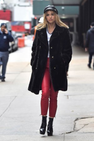 Suki Waterhouse is seen in Soho