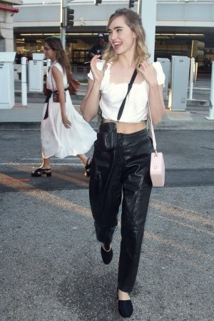 Suki Waterhouse seen at LAX