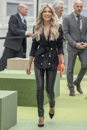 Sylvie Meis attends Ambiente 2018 trade fair