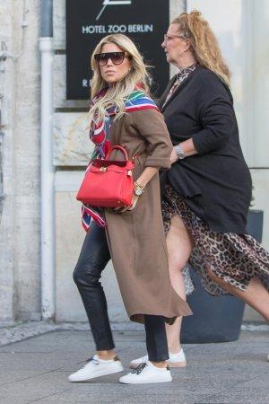 Sylvie Meis filming TV Show 'Shopping Queen'