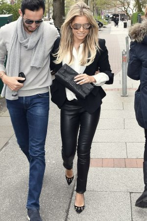 Sylvie Meis seen out in Hamburg
