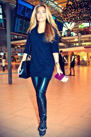 Sylvie van der Vaart at Hamburg Airport