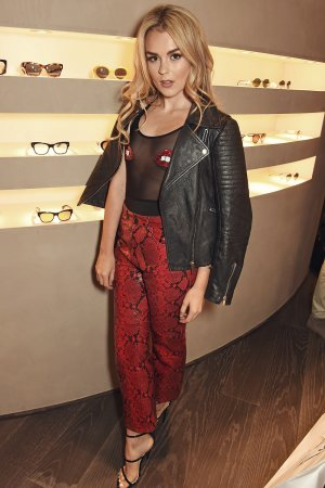 Tallia Storm attends Oliver Peoples Store Launch Party