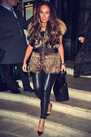 Tamara Ecclestone in Fur and Leather