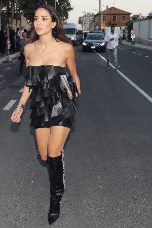 Tamara Kalinic arriving at Dsquared2 Spring/Summer 2019 Men's show
