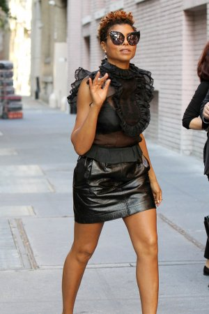 Taraji P Henson arrives at The View talk show