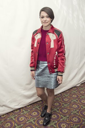 Tatiana Maslany attends Press conference during 42nd Toronto International Film Festival