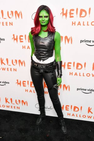 Taylor Hill attends Heidi Klum's 20th Annual Halloween Party
