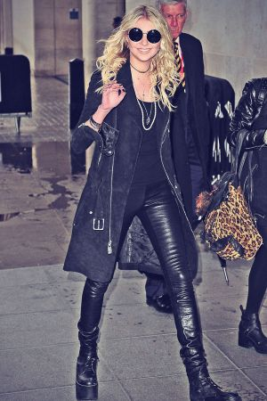 Taylor Momsen arriving at BBC Radio 1 studios